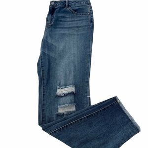 Distressed Tractr Skinny Straight Jeans Kids 16